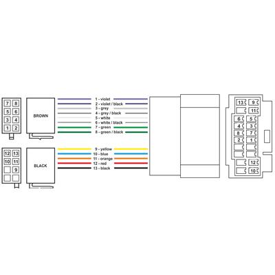 ISO Переходник для ACURA HONDA SUZUKI NISSAN