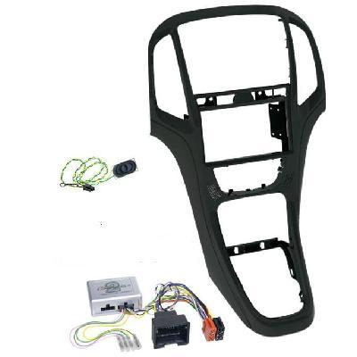 Переходная рамка для Opel Astra 2009~ 2din black с крепежом.